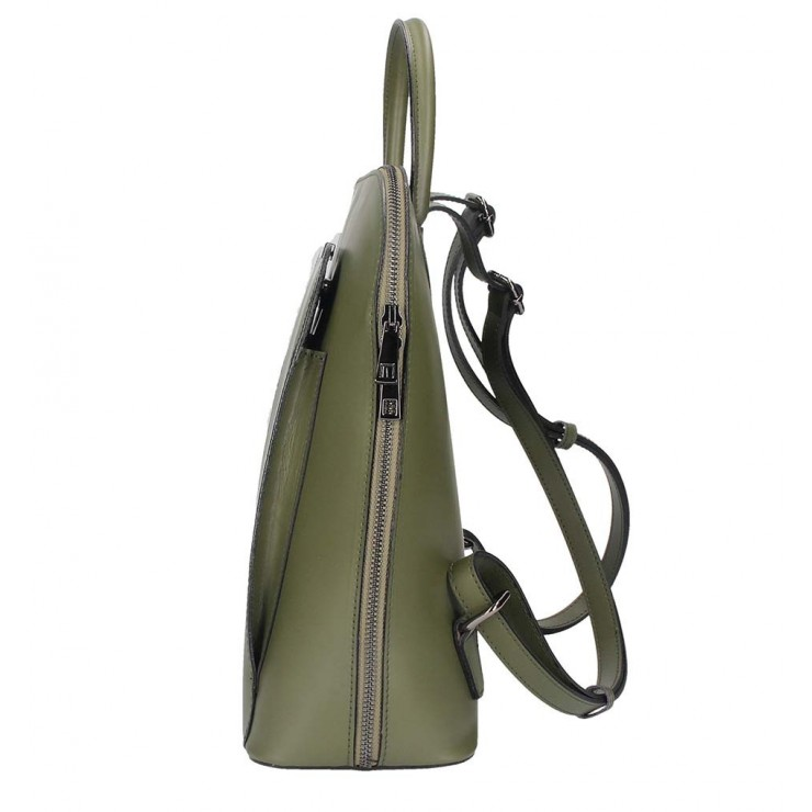 Listová kožená kabelka