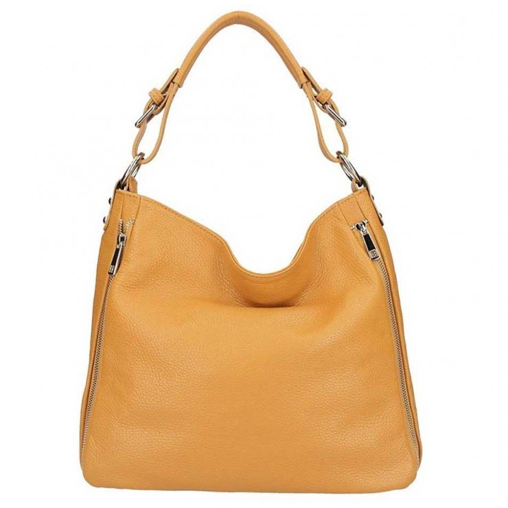 Leather shoulder bag 390 cognac
