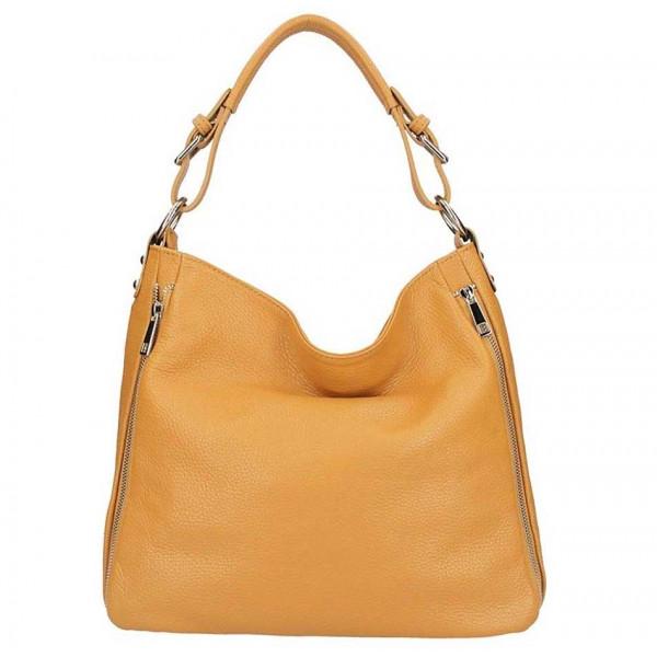 Koňaková kožená kabelka na rameno 5310