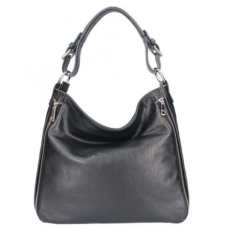 Leather shoulder bag 390 black