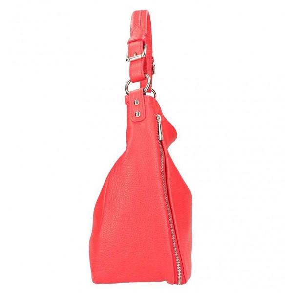 Okrová kožená kabelka na rameno 390 Okrová