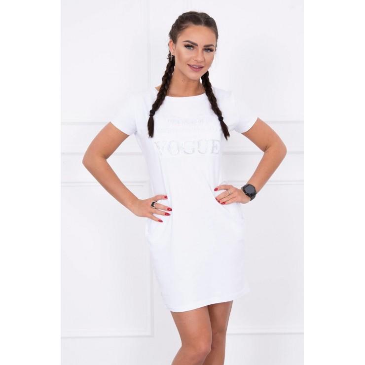 Dress with pockets VOGUE MI8833 white