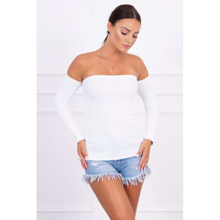 T-shirt with exposed arms MI5052 white