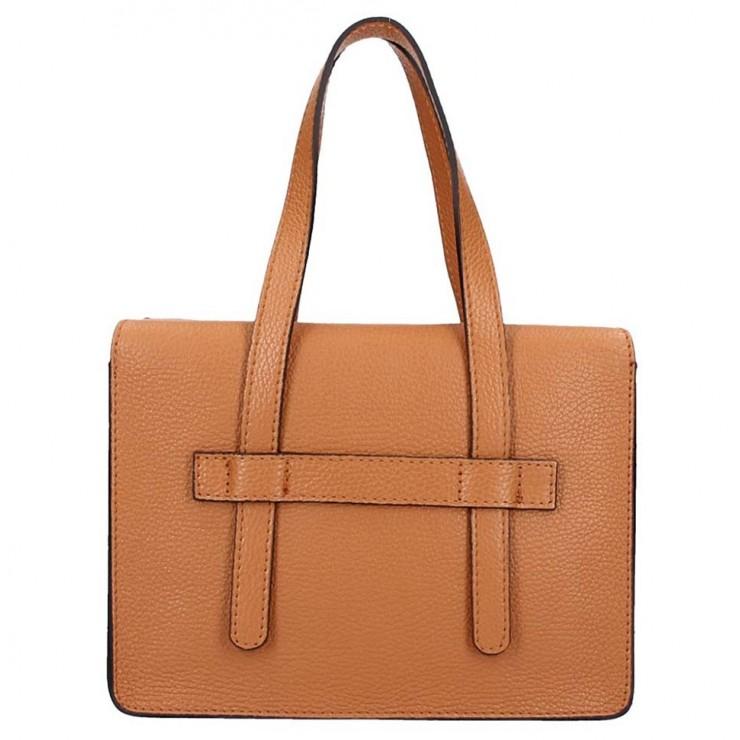 Koňaková kožená kabelka na rameno 5302