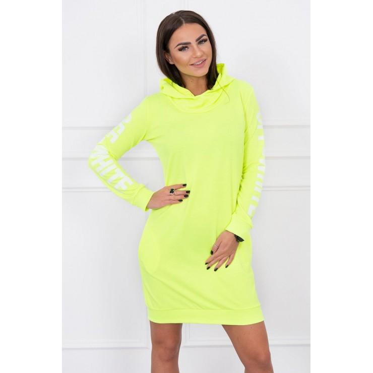 Dress Off White MI62182 yellow neon