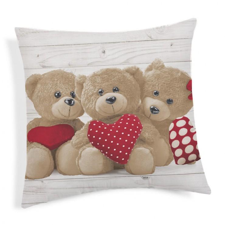 Kissenbezug Teddybär rot 40x40 cm Made in Italy