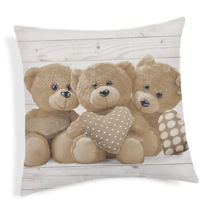 Kissenbezug Teddybär beige 40x40 cm Made in Italy