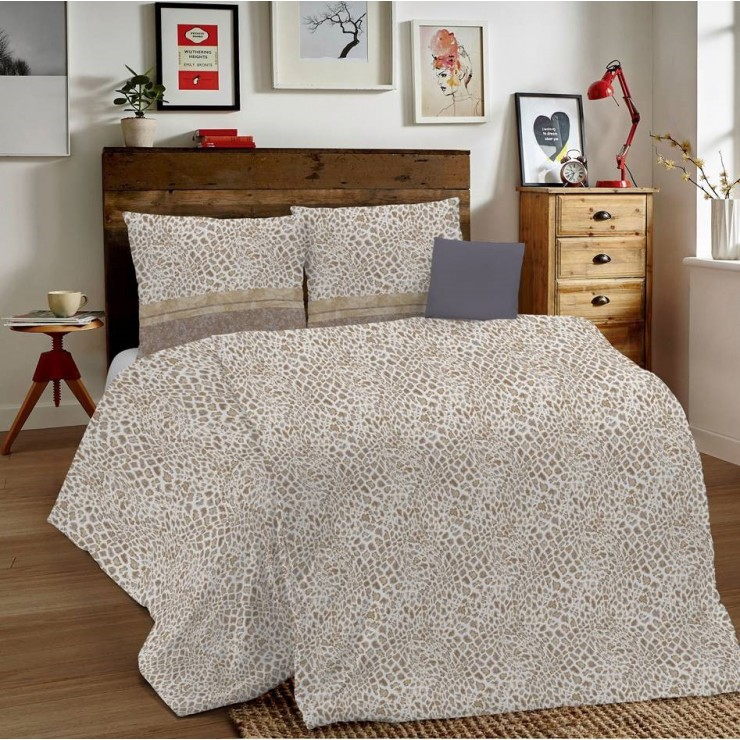Duvet Covers MIG001 Animalier beige Made in Italy