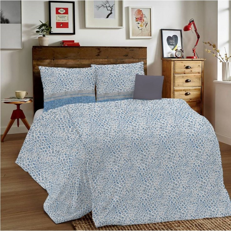 Duvet Covers MIG001 Animalier blue Made in Italy