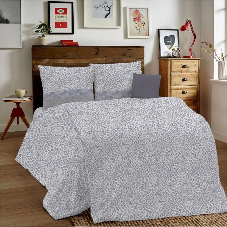 Duvet Covers MIG001 Animalier gray Made in Italy