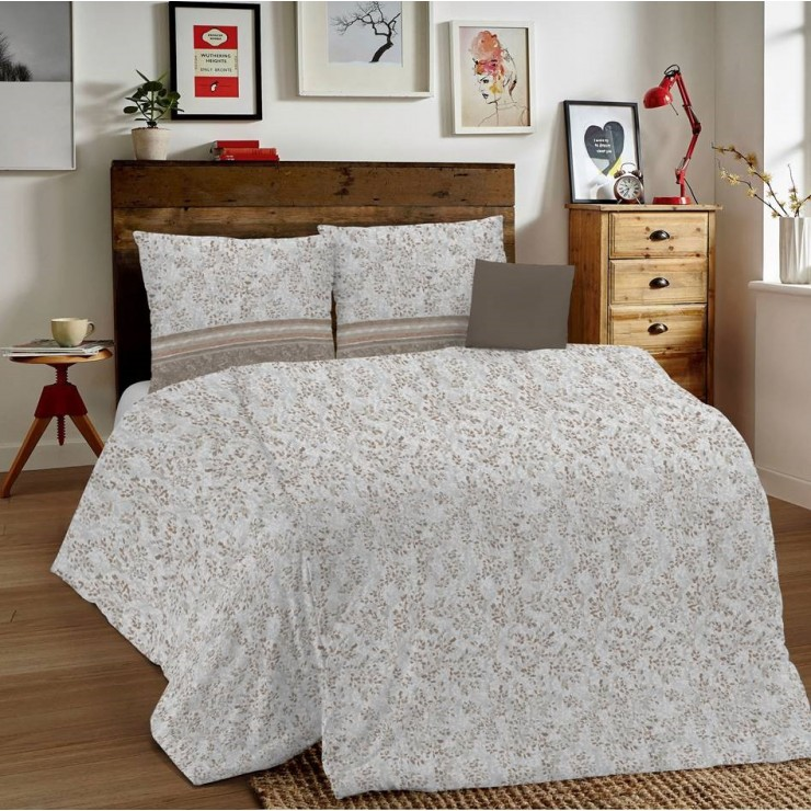 Duvet Covers MIG001 Fogliolina beige Made in Italy