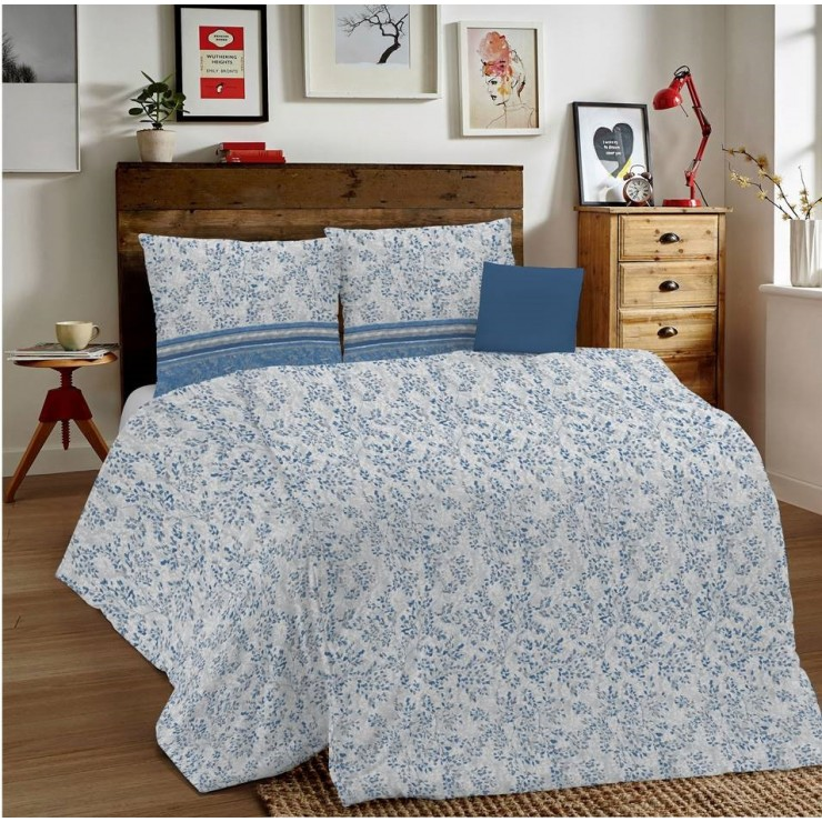 Duvet Covers MIG001 Fogliolina blue Made in Italy