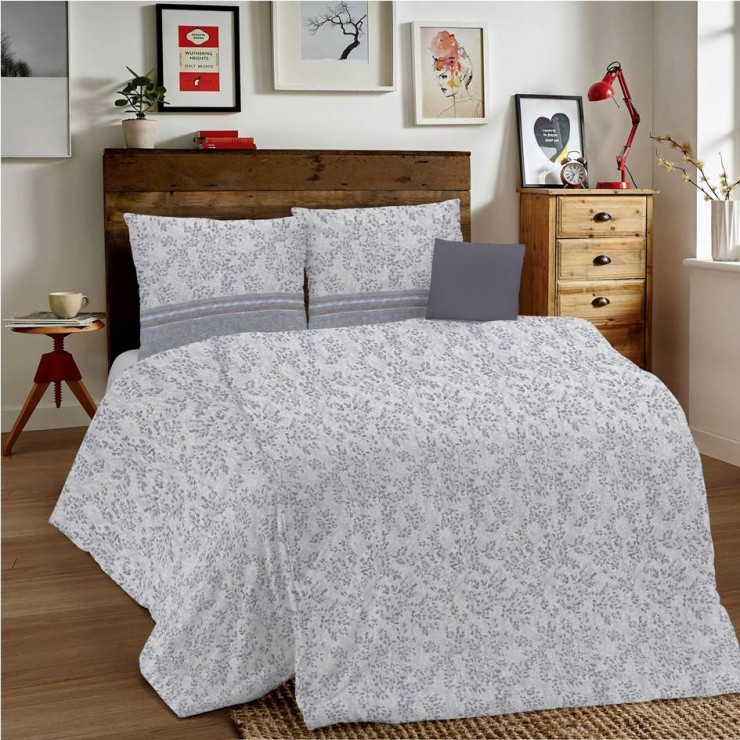 Duvet Covers MIG001 Fogliolina gray Made in Italy