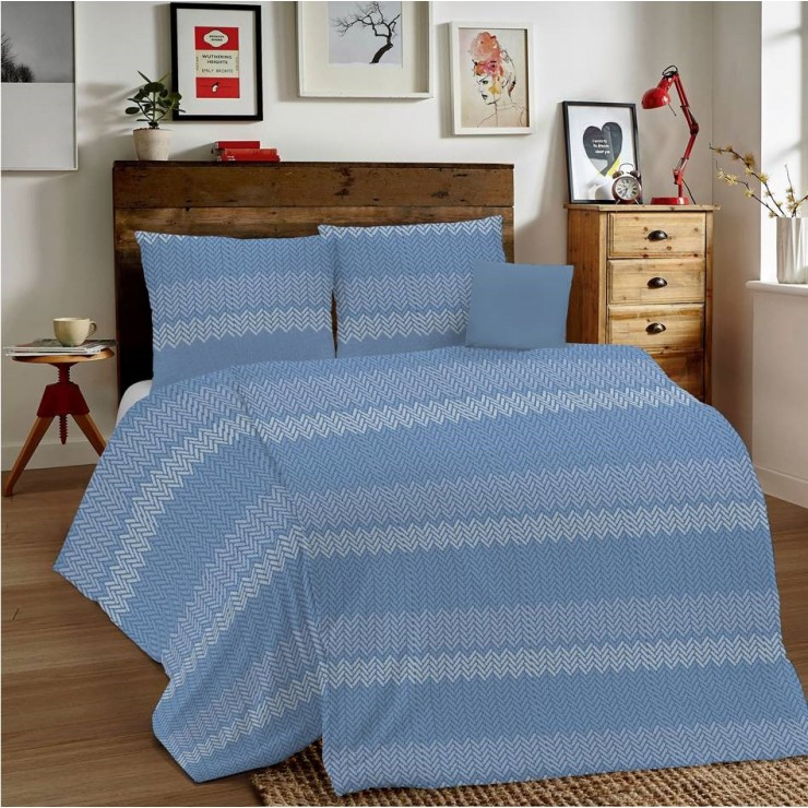 Duvet Covers MIG001 Intreccio blue Made in Italy