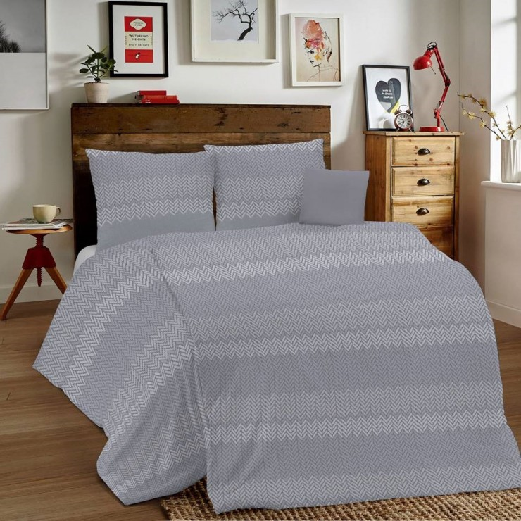 Duvet Covers MIG001 Intreccio gray Made in Italy