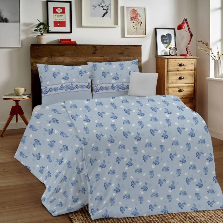 Posteľné obliečky MIG001 Linda modré Made in Italy