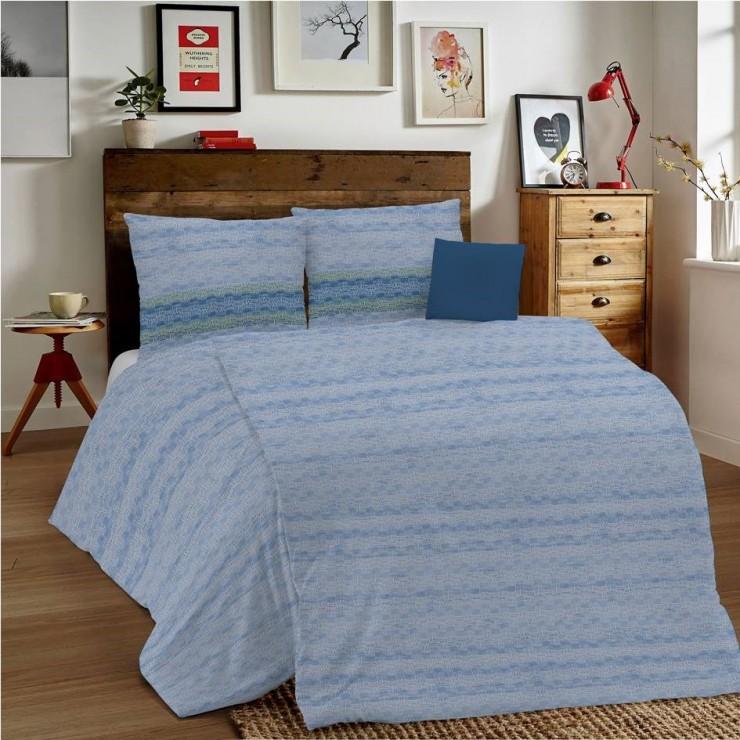 Posteľné obliečky MIG001 Unito modré Made in Italy