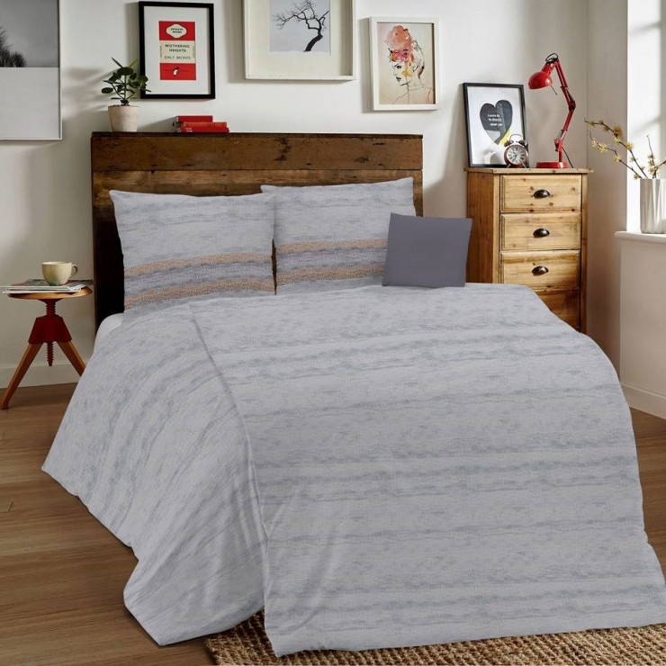 Duvet Covers MIG001 Unito gray Made in Italy