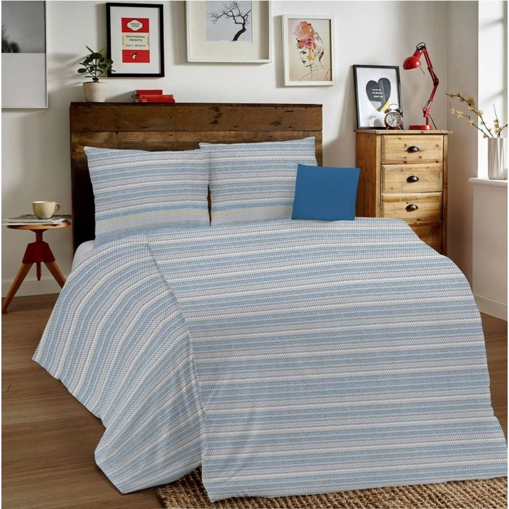Duvet Covers MIG001 Zigzag blue Made in Italy