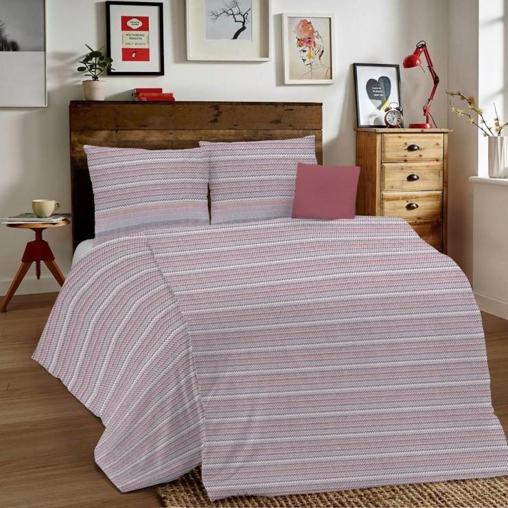Posteľné obliečky MIG001 Zigzag ružové Made in Italy