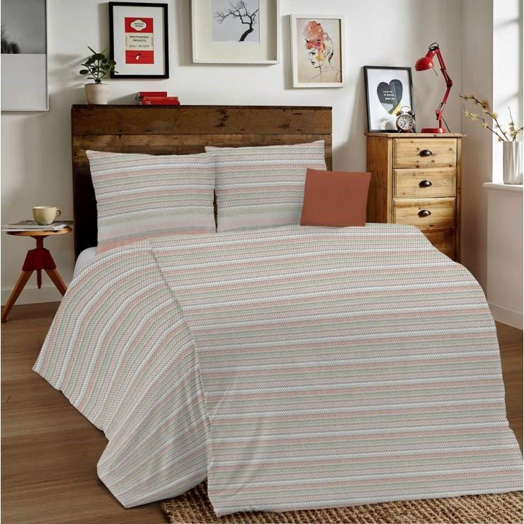 Posteľné obliečky MIG001 Zigzag tehlové Made in Italy