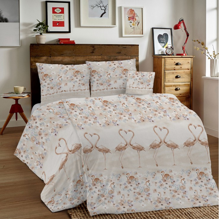 Duvet Covers MIG002PL Flamingos beige Made in Italy