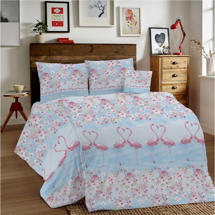 Duvet Covers MIG002PL Flamingos pink Made in Italy