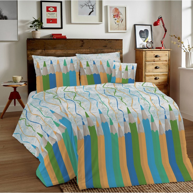Duvet Covers MIG002CR Pencils green Made in Italy