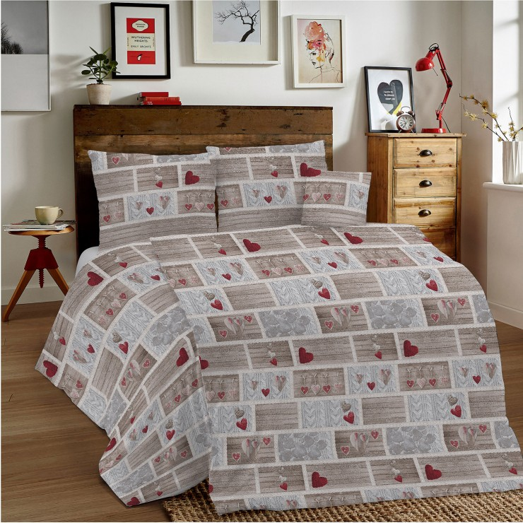 Duvet Covers MIG002 Shabby love red Made in Italy