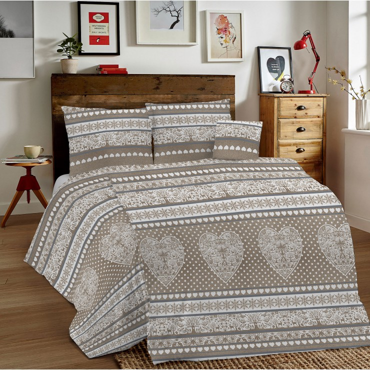 Duvet Covers MIG002 Tirolo beige Made in Italy