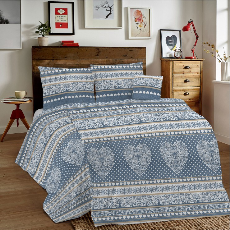 Duvet Covers MIG002 Tirolo blue Made in Italy