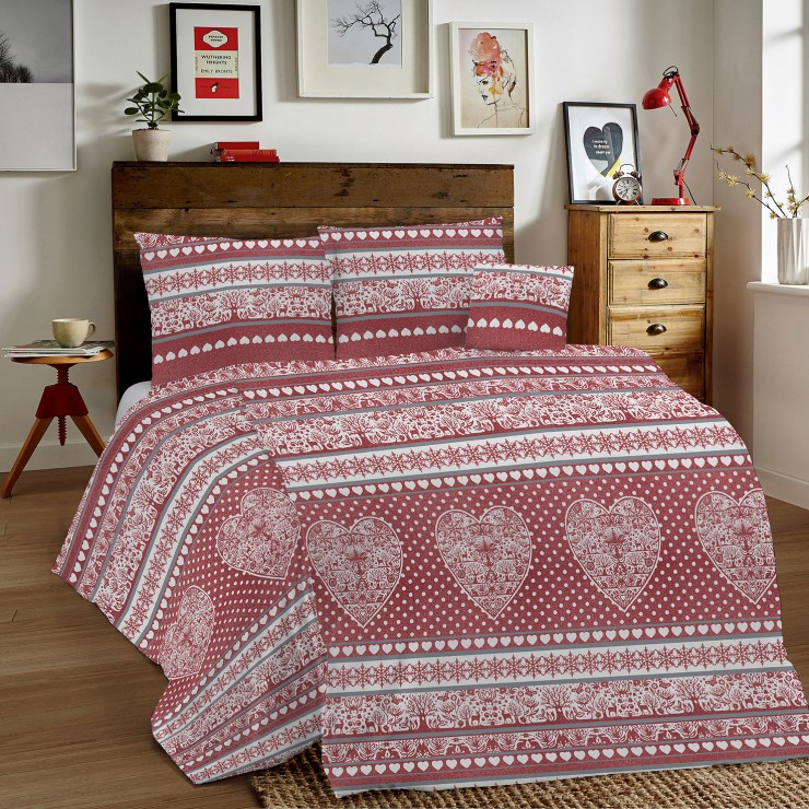Duvet Covers MIG002 Tirolo red Made in Italy