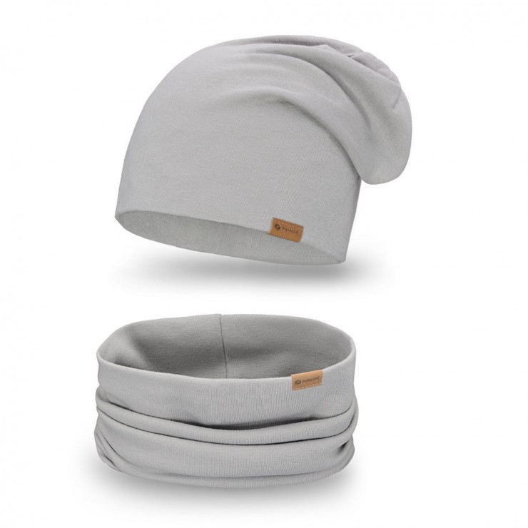 Women's Winter Set hat + scarf  77A gray