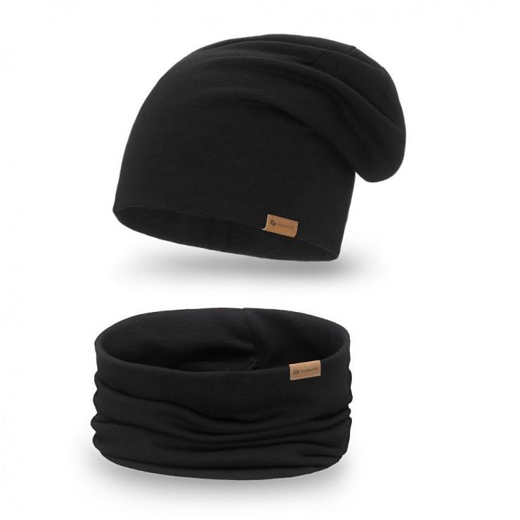 Women's Winter Set hat + scarf  77A black