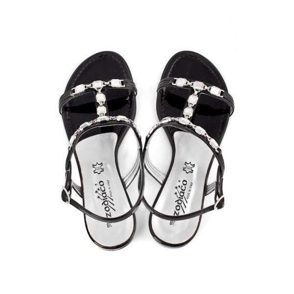 dde3475cd37d3 Čierne sandále zdobené kamienkami 905 ZODIACO - MONDO ITALIA s.r.o.