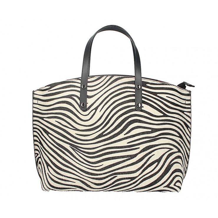 Kožená kabelka MI423 zebra Made in Italy