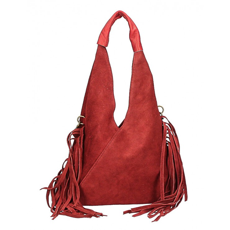 Suede Bag MI565 bordeaux Made in Italy