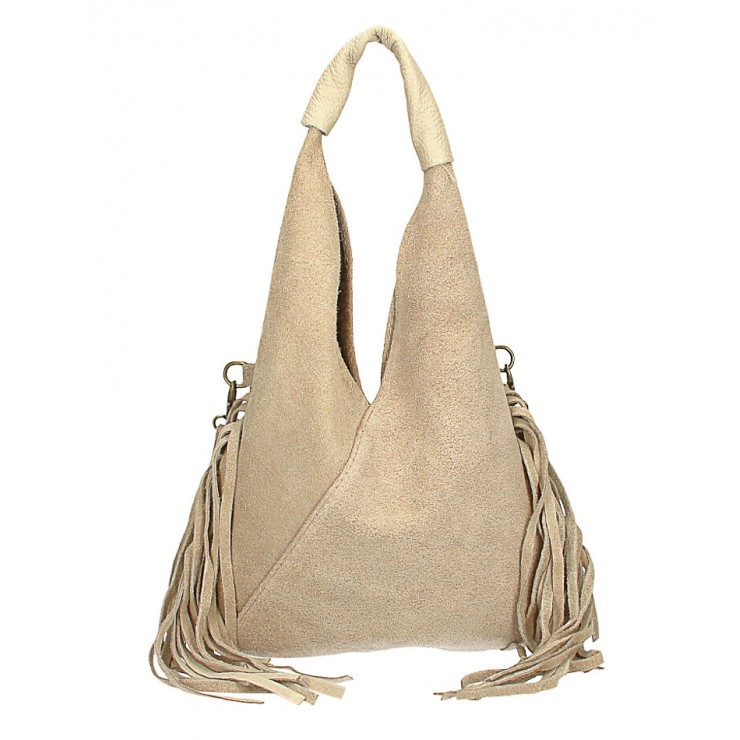 Suede Bag MI565 taupe Made in Italy