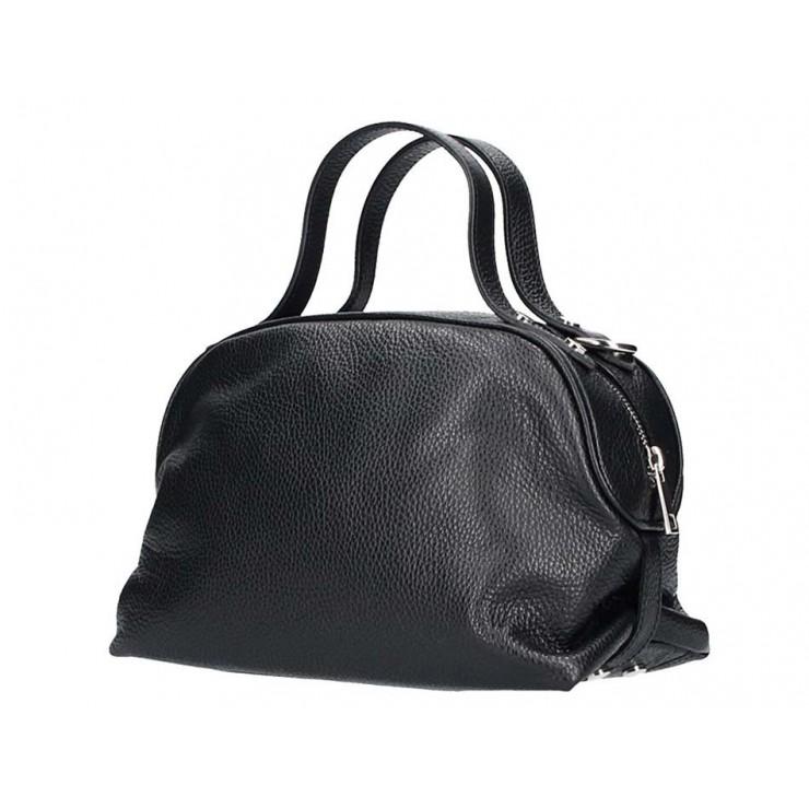 Ledertasche 593 schwarz Made in Italy