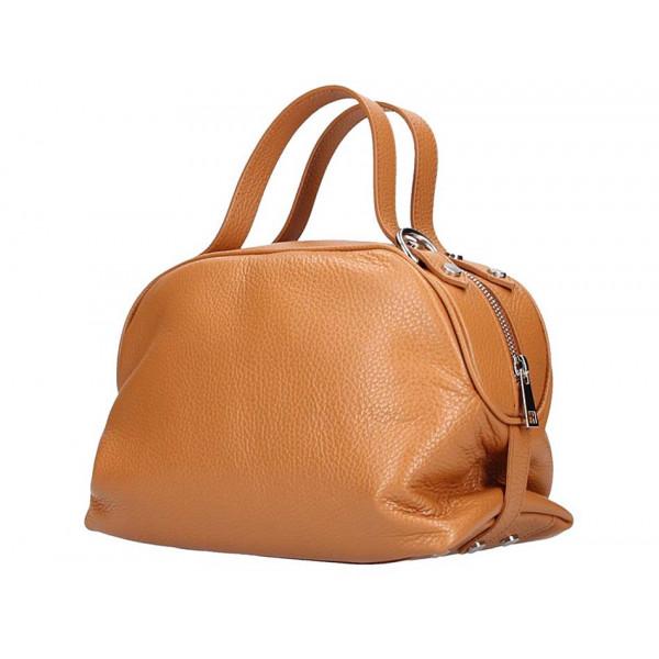 Koňaková kožená kabelka 592 Made in Italy