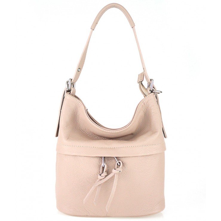 Leather Shoulder Bag 631 pink