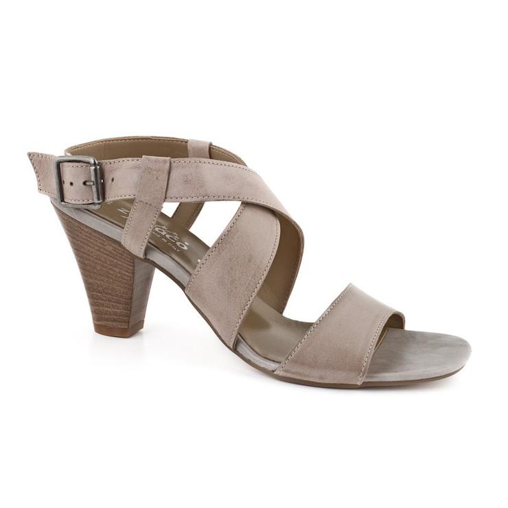 Šedohnedé dámske sandále 904 ZODIACO