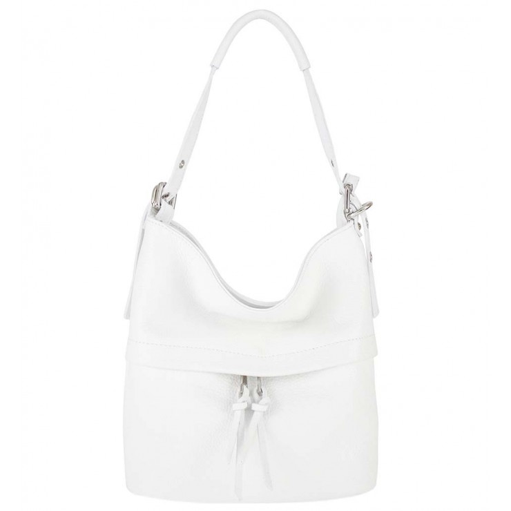 Leather Shoulder Bag 631 white