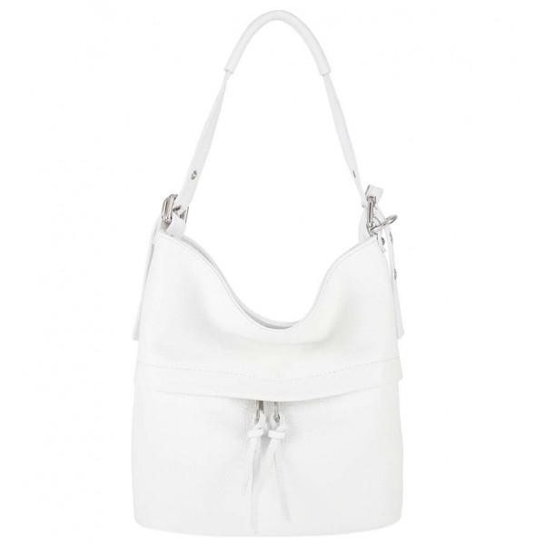 Leather Shoulder Bag 631 white