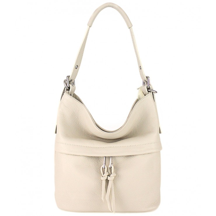 Leather Shoulder Bag 631 beige