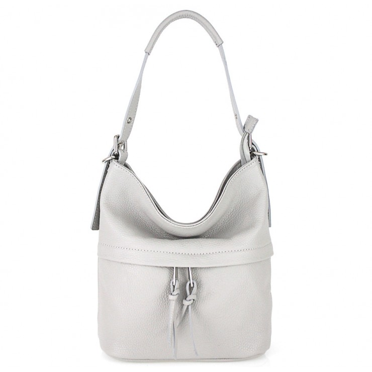 Leather Shoulder Bag 631 gray