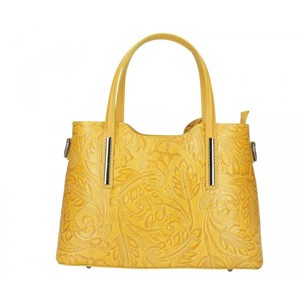 Okrová kožená kabelka 1493