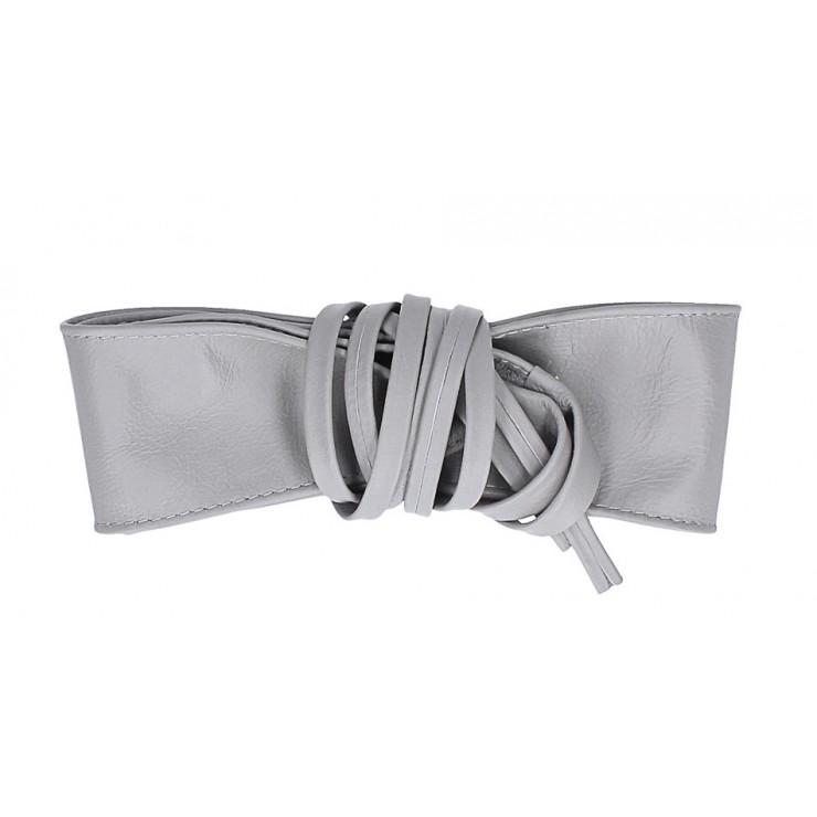Dámsky kožený opasok na viazanie 839 šedý