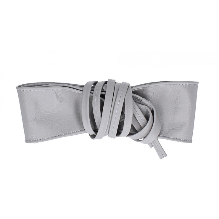 Genuine Leather sash belt 839 gray