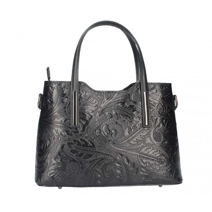 Genuine Leather Handbag 1493 black